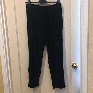 Vince Viscose crop stretch elastic waist pants